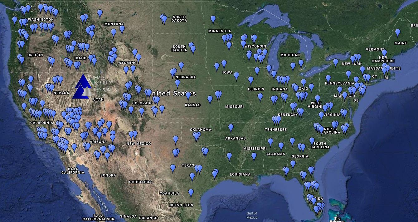 US patient Map